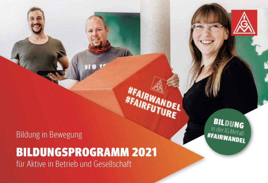 Bildungsprogramm 2021 Für Aktive in Betrieb und Gesellschaft